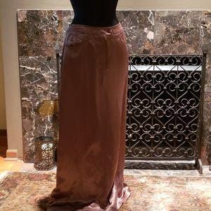 Silk-like Long Skirt